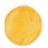 Glass Pressed Beads 8mm Flat Round Mustard Matt